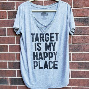 V neck super soft Tee Target is my happy Place XXL